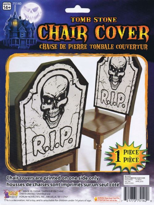 Tombstone Chair Cover Halloween Grave Fancy Dress Party